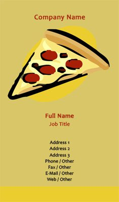 Pizza Slice Business Card Template